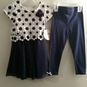 beautiful 2piece girl's suit, blouse and pants sz2